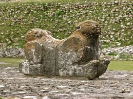 uxmal double jaguar throne