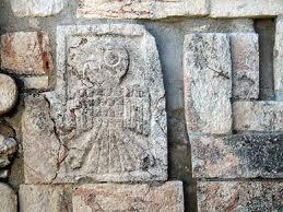 uxmal loro carving