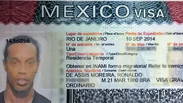 Example of Mexican One-time use Visa that is placed onto a passport for entering Mexico to complete the Residente Temporal process.