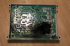 burned circuit board