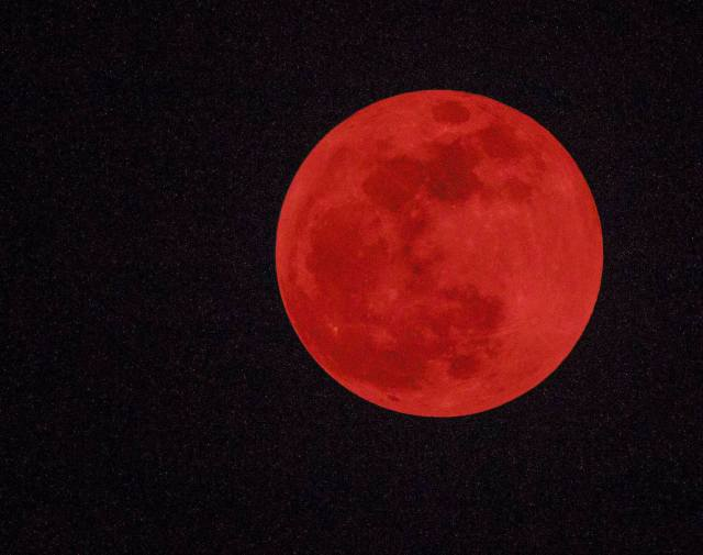 Yucatan Supermoon lunar eclipse 09/2015 foto by William L. Drennon